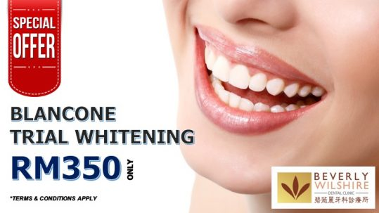 TRIAL WHITENING USING BLANCONE @ RM350 ONLY